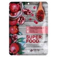 Маска для лица тканевая  Eyenlip Super Food Pomegranate Mask 23мл