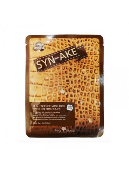 Тканевая маска со змеиным ядом Syn-Ake MAY ISLAND Real Essence Syn-Ake Mask Pack 25мл