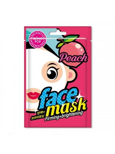 Увлажняющая маска с персиком BLING POP Peach Firming & Brightening Mask 20мл