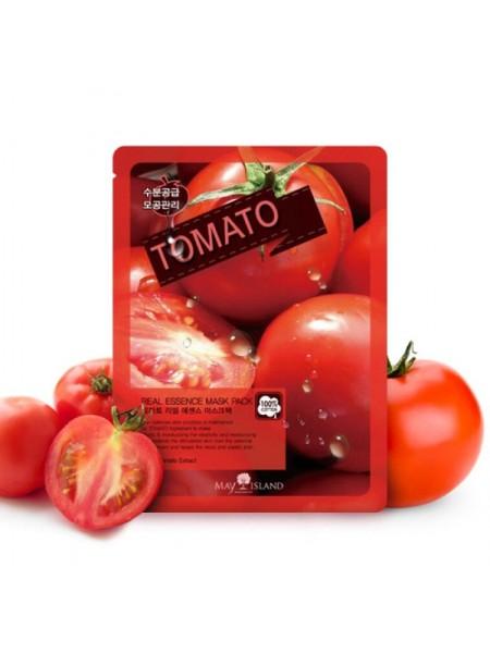 Тканевая маска с томатом MAY ISLAND Real Essence Tomato Mask Pack 25мл