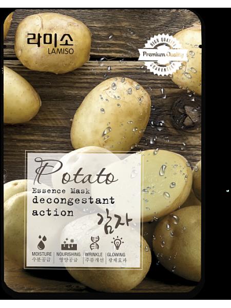 Тканевая маска с экстрактом Картофеля La Miso Essence Mask Premium Quality Potato