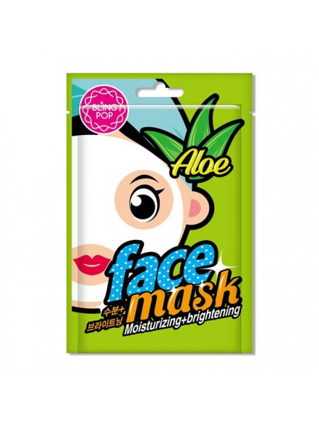 Тканевая маская с алоэ BLING POP Aloe Moisturizing & Brightening Mask 20мл