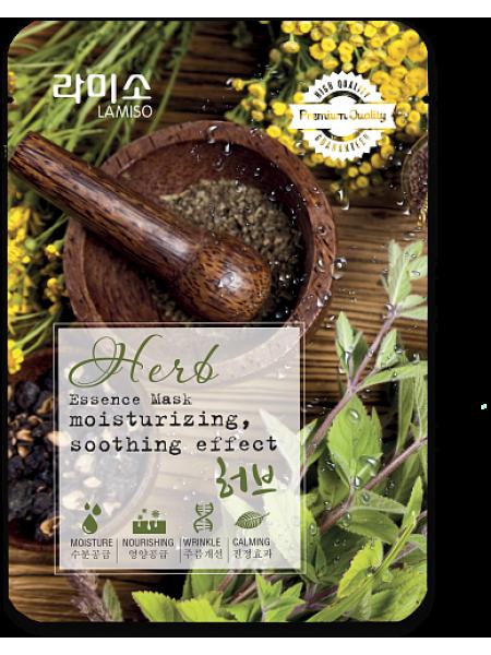 Маска с экстрактом Лечебных трав La Miso  Essence Mask Premium Quality Herb