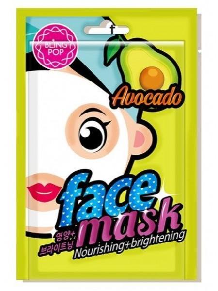Питательная тканевая маска с авокадо BLING POP AVOCADO NOURISHING & BRIGHTENING MASK 20мл