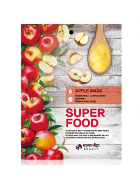 Тканевая маска  с яблоком  EYENLIP SUPER FOOD APPLE MASK 23мл