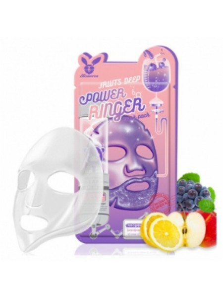 Тканевая маска с фруктовыми кислотами ELIZAVECCA Fruits Deep Power Ringer Mask Pack