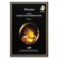 JMsolution Маска ультратонкая с золотом и икрой - Active golden caviar nourishing mask, 30мл