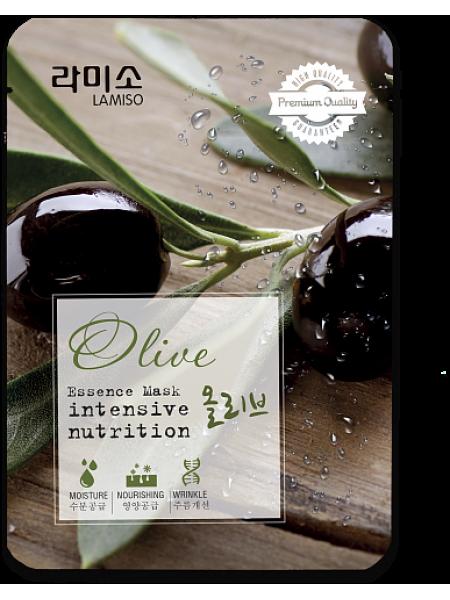 Тканевая маска с экстрактом Оливы La Miso Essence Mask Premium Quality Olive