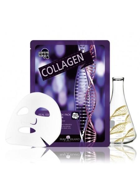 Омолаживающая тканевая маска с коллагеном MAY ISLAND Real Essence Collagen Mask Pack 25мл