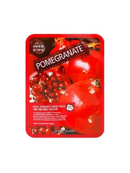 Тканевая маска с гранатом MAY ISLAND Real Essence Pomegranate Mask Pack 25мл