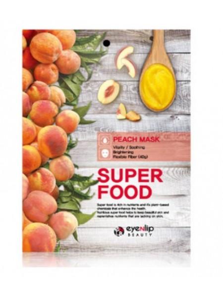 Eyenlip Super Food Peach Mask Тканевая маска с экстрактом персика 23мл
