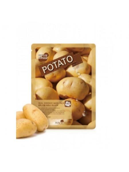 Тканевая маска  с картофелем от отеков MAY ISLAND Real Essence Potato Mask Pack 25мл