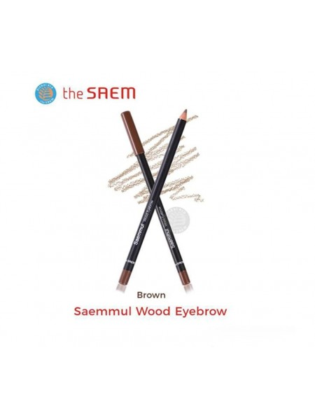 Карандаш для глаз и бровей The Saem Saemmul Wood Eyebrow