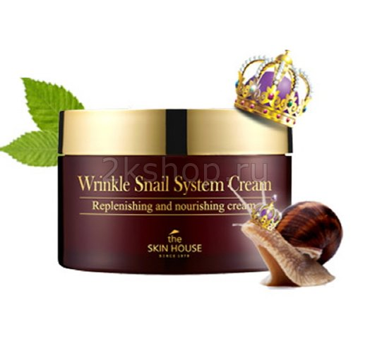 skin house wrinkle snail system cream купить