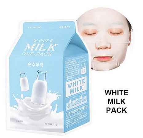 A'peiu White Milk One-Pack Молочная тканевая маска для лица