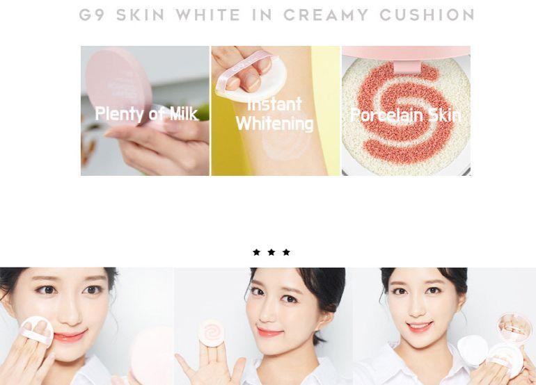 BERRISOM G9 White in Creamy Cushion кушон с тональной осветляющей базой