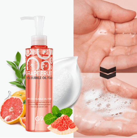G9SKIN Grapefruit Vita Bubble Oil Foam  Средство 2 в одном масло-пенка с грейпрфутом
