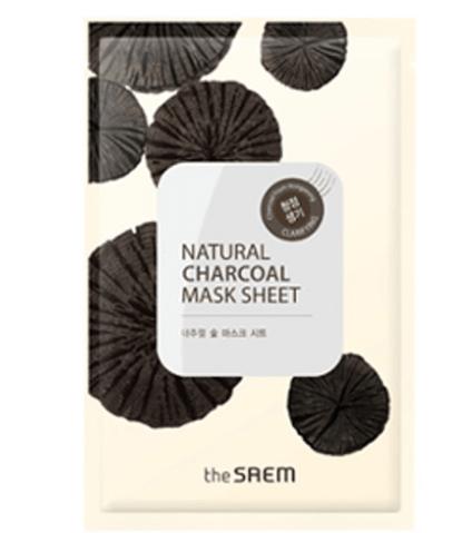 The Saem Natural Charcoal Mask Sheet Маска тканевая с древесным углем