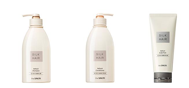 Линия для ухода за жирной кожей головы и волос The Saem Silk Hair Refresh