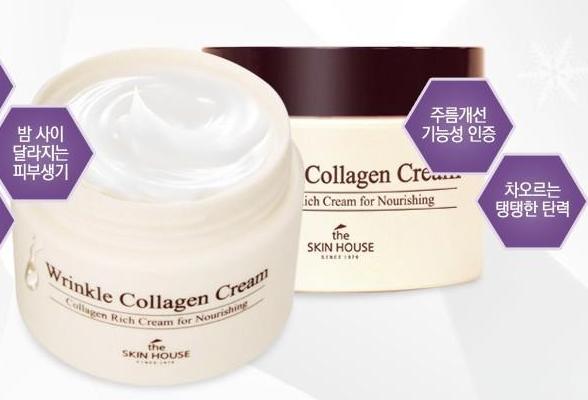 The Skin house Wrinkle Collagen cream  Крем с коллагеном от морщин
