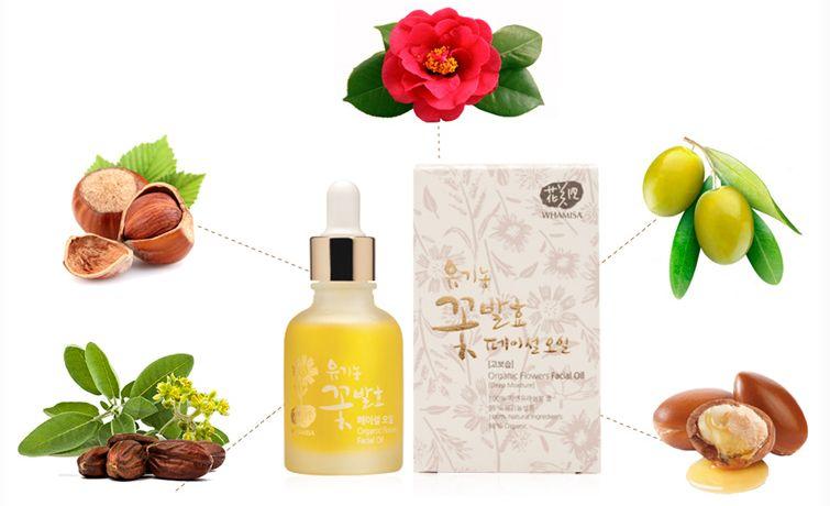 Whamisa Organic Flowers Facial Oil Масло для лица на основе органических цветов