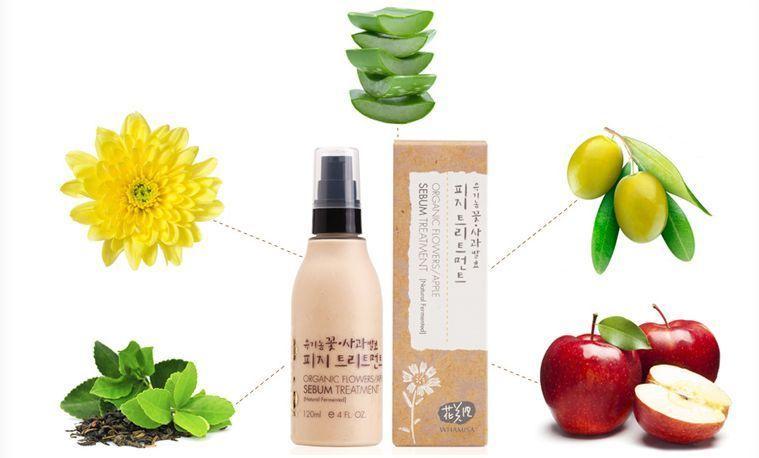 Whamisa  Organic Flowers/Apple Sebum Treatment Бальзам (тритмент) матирующий для жирной и проблемной кожи лица